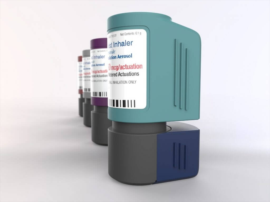 inhaler product rendering